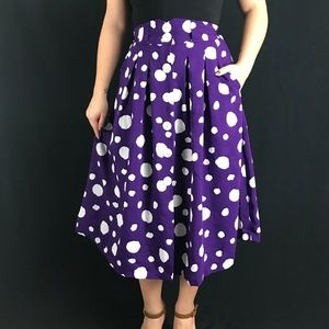 80s/90s Polka Dot Midi Skirt